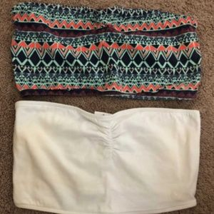 NEVER WORN Bandeaus from PacSun